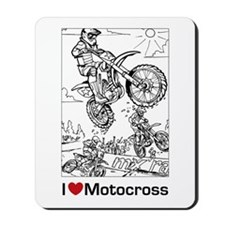 I love Motocross gifts Mousepad