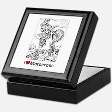 I love Motocross gifts Keepsake Box