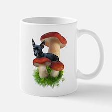 Red Mushroom Dog Mug