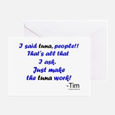 Make Tuna Work Greeting Card