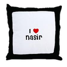 I * Nasir Throw Pillow