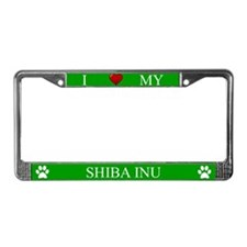 Green I Love My Shiba Inu Frame