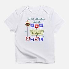 Sock Monkey Bowling Tiki Night Infant T-Shirt