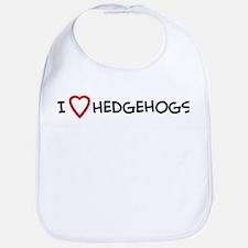 I Love Hedgehogs Bib