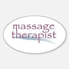 Massage Therapist Sticker (Oval)