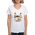 Packers Sushi Girls Women's V-Neck T-Shirt