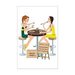 Packers Sushi Girls Mini Poster Print