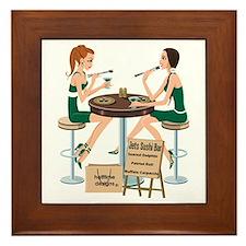 Jets Sushi Girls Framed Tile