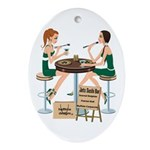 Jets Sushi Girls Ornament (Oval)