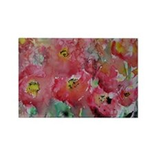Poppies, Beautiful, Bright, Rectangle Magnet