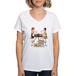 Saints Sushi Girls Women's V-Neck T-Shirt