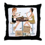 Saints Sushi Girls Throw Pillow