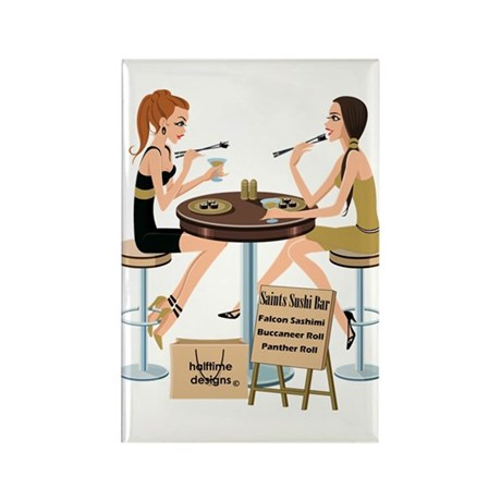 Saints Sushi Girls Rectangle Magnet