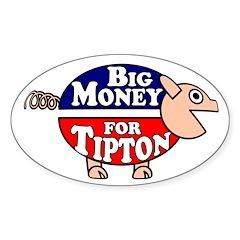 Big Money for Scott Tipton Pig Car Sticker