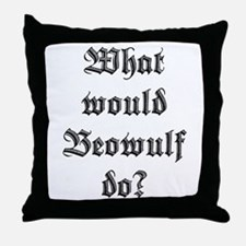 Cute Beowulf Throw Pillow
