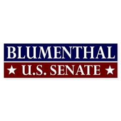 Richard Blumenthal for U.S. Senate car sticker
