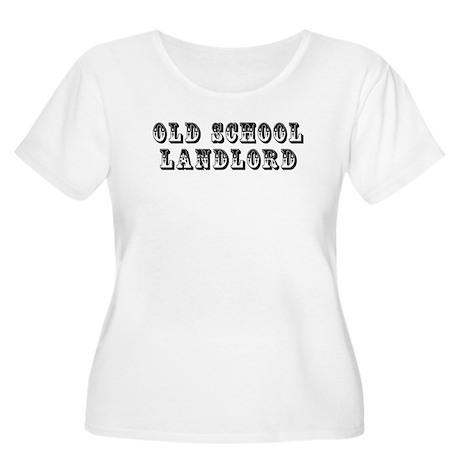 Old School Landlord Women's Plus Size Scoop Neck T