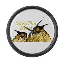 Save The Bees Large Wall Clock