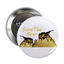 "Save The Bees 2.25"" Button"