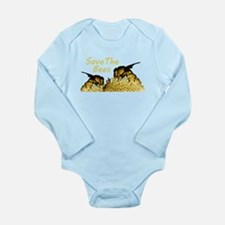 Save The Bees Long Sleeve Infant Bodysuit