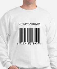 I Am Not A Product Barcode Sweatshirt