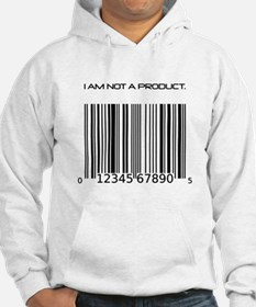 I Am Not A Product Barcode Hoodie