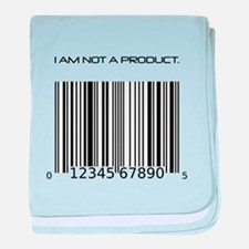 I Am Not A Product Barcode baby blanket
