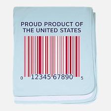 Product Of U.S. Barcode baby blanket