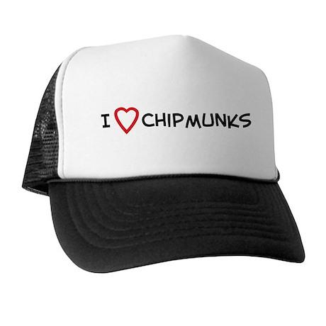 I Love Chipmunks Trucker Hat