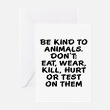 Be kind to animals Greeting Cards (Pk of 20)