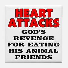 Heart attacks Tile Coaster