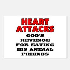 Heart attacks Postcards (Package of 8)