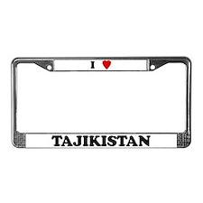 I Love Tajikistan License Plate Frame
