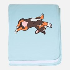 Sleeping Bernese Mountain Dog baby blanket