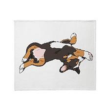 Sleeping Bernese Mountain Dog Throw Blanket