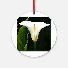 Calla Lily Ornament (Round)