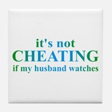 Husband Watches... Tile Coaster