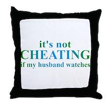Husband Watches... Throw Pillow