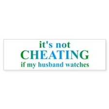Husband Watches... Bumper Sticker