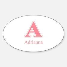 Adrianna Oval Decal