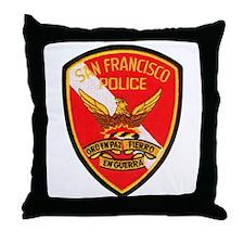 San Francisco Police Dive Tea Throw Pillow