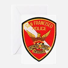 San Francisco Police Dive Tea Greeting Card
