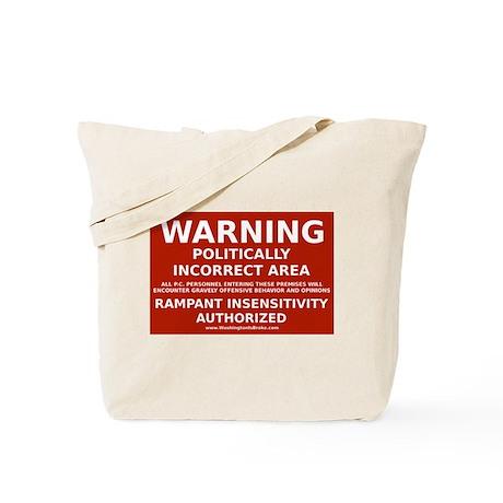 PC Warning: Tote Bag