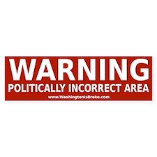 PC Warning: Bumper Sticker