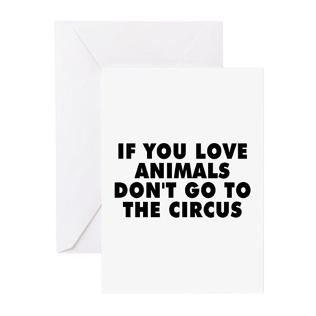 Don't go to the circus - Greeting Cards (Pk of 20)