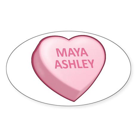 MAYA ASHLEY Sticker (Oval 10 pk)