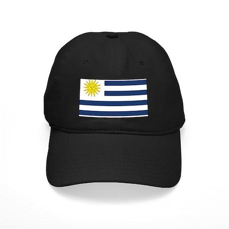 Uruguay Flag Black Cap