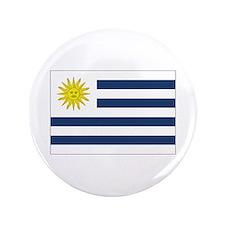 """Uruguay Flag 3.5"""" Button"""