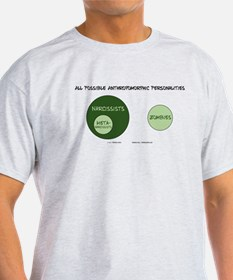 Venn Diagram: Narcissism T-Shirt