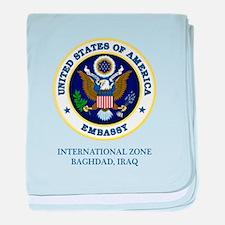 US Embassy - Baghdad baby blanket